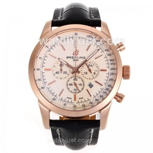 Replica Breitling Aeromarine Working Rose Gold Case Stick Markers