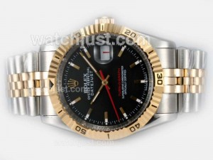 Replica Rolex Datejust Turn O Graph Automatic Movement 14k Wrapped Gold Two Tone